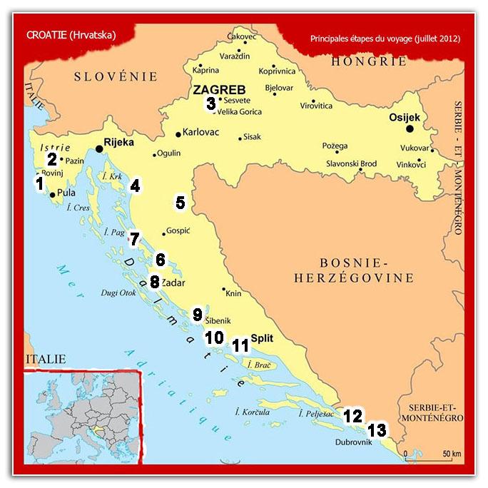 plan croatie